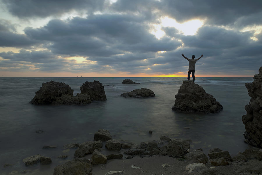 Evening Photograph - Evening At Sidna Ali Beach 2 by Dubi Roman