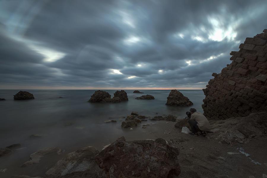Evening Photograph - Evening At Sidna Ali Beach 4 by Dubi Roman