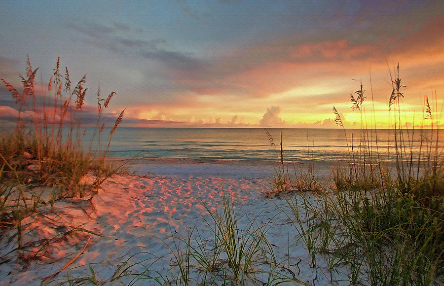 Gulf Of Mexico Photograph - Evening At The Beach by HH Photography of Florida