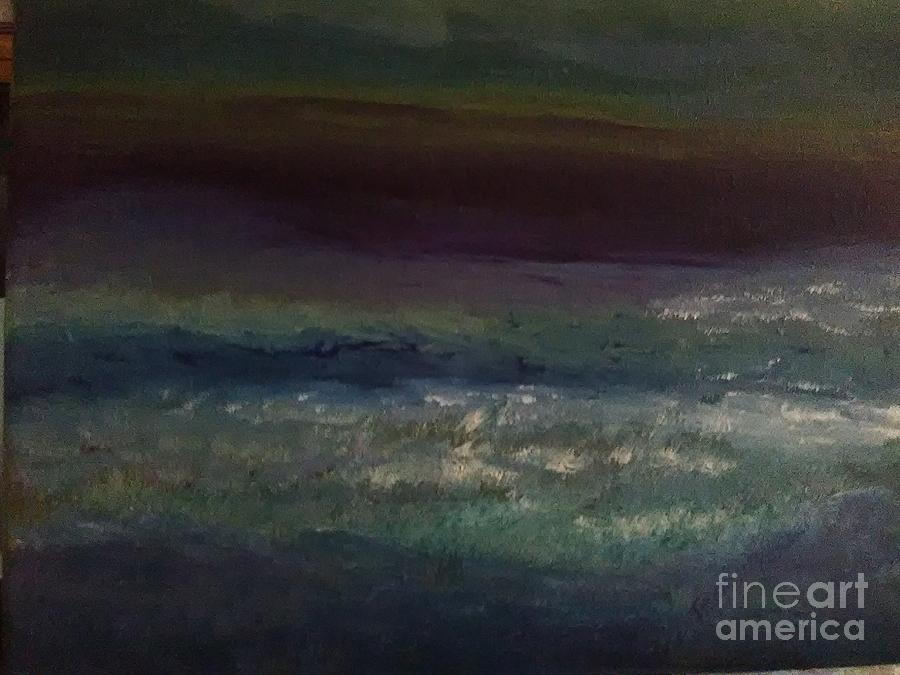Evening At The Beach Painting by Loretta Kessler