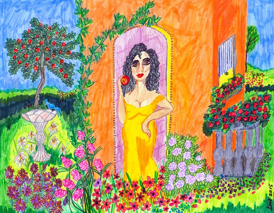 Colorful Painting - Evening At The Girl Cave by Stacey Torres