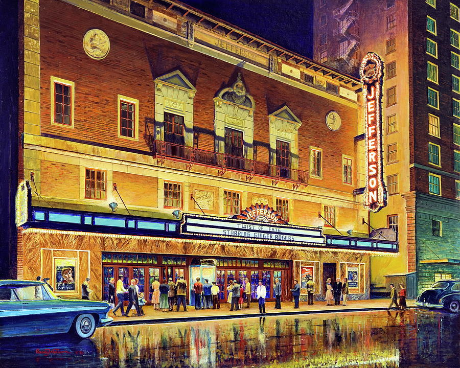 Beaumont Painting - Evening At The Jefferson by Randy Welborn