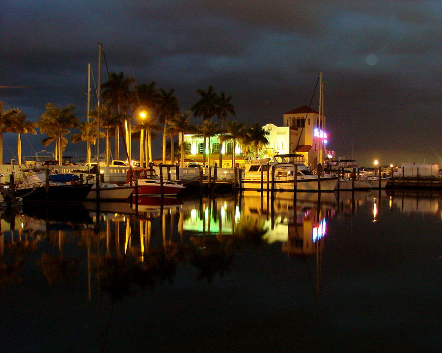 Marina Photograph - Evening At The Marina by Kimberly Camacho