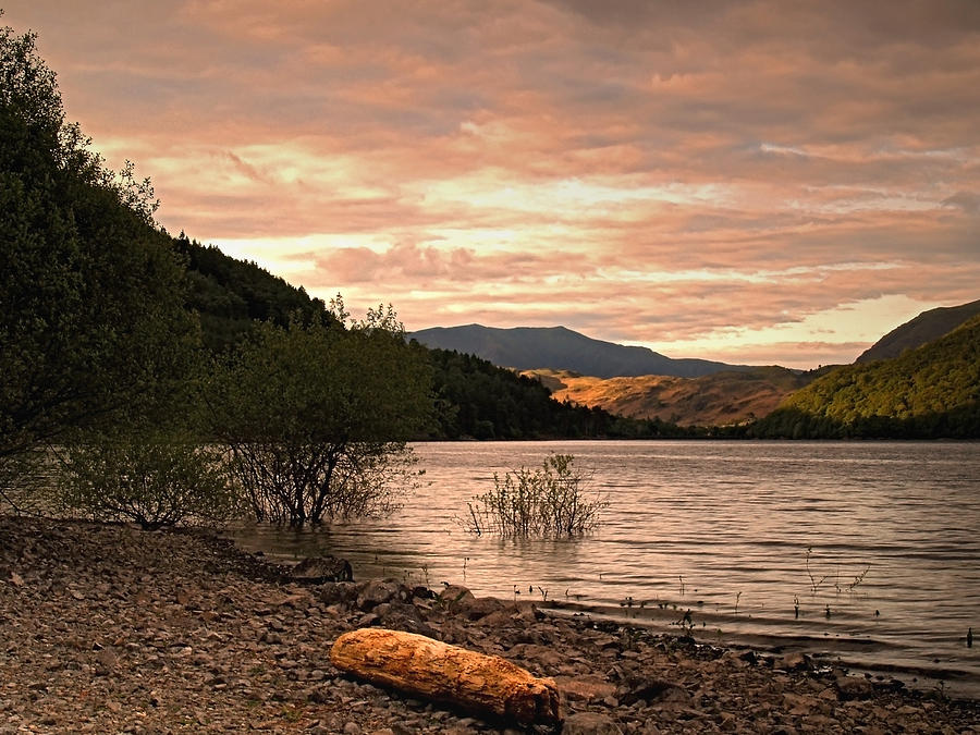 Evening Photograph - Evening At Thirlmere by Steve Watson