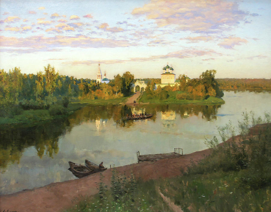 Isaac Levitan Painting - Evening Bells by Isaac Levitan