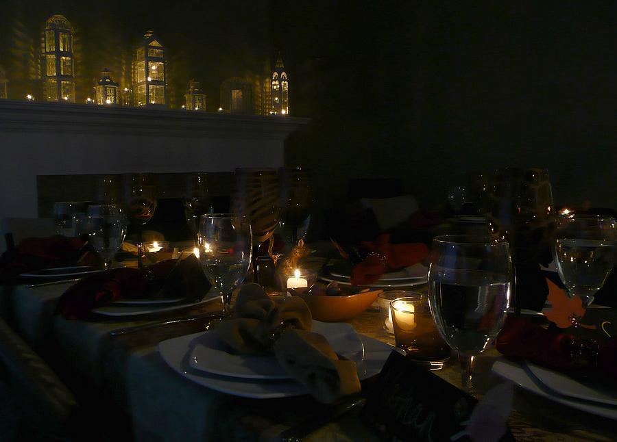 Table Photograph - Evening Celebration by Lori Seaman