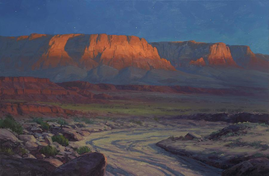 Evening Comes To Marble Canyon Painting