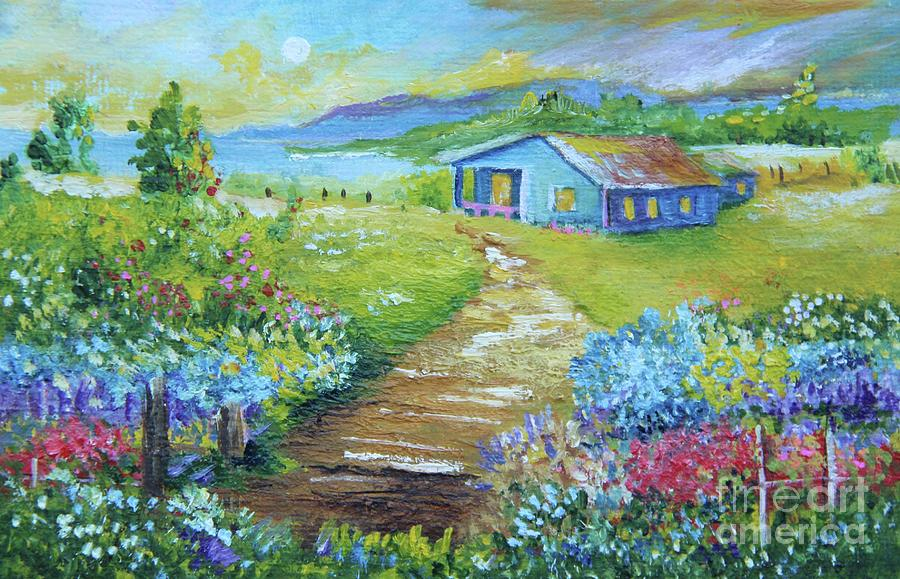 Country House Painting - Evening Country Side by Alicia Maury