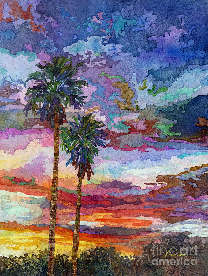 Sunset Painting - Evening Glow by Hailey E Herrera