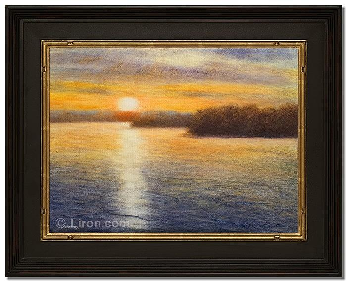 Water Painting - Evening Glow by Liron Sissman