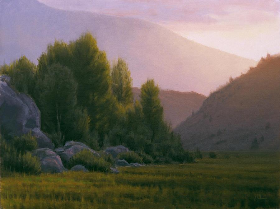 Landscape Painting - Evening Grace by Joe Mancuso