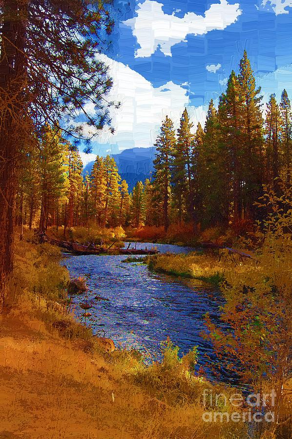 Berry Painting - Evening Hatch On The Metolius River Painting 2 by Diane E Berry