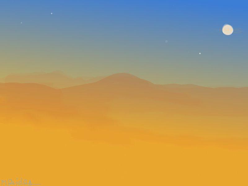 Landscape Painting - Evening Haze by Margot Paisley