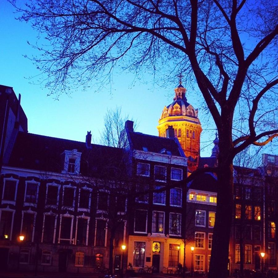Europe Photograph - Evening In Amsterdam by Aleck Cartwright