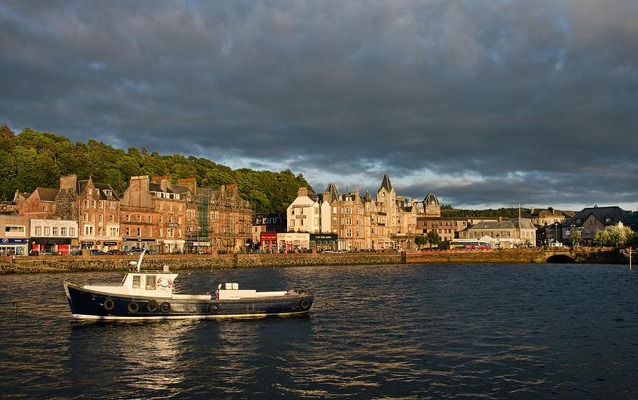 Scotland Photograph - Evening In Oban by Christine Czernin Morzin