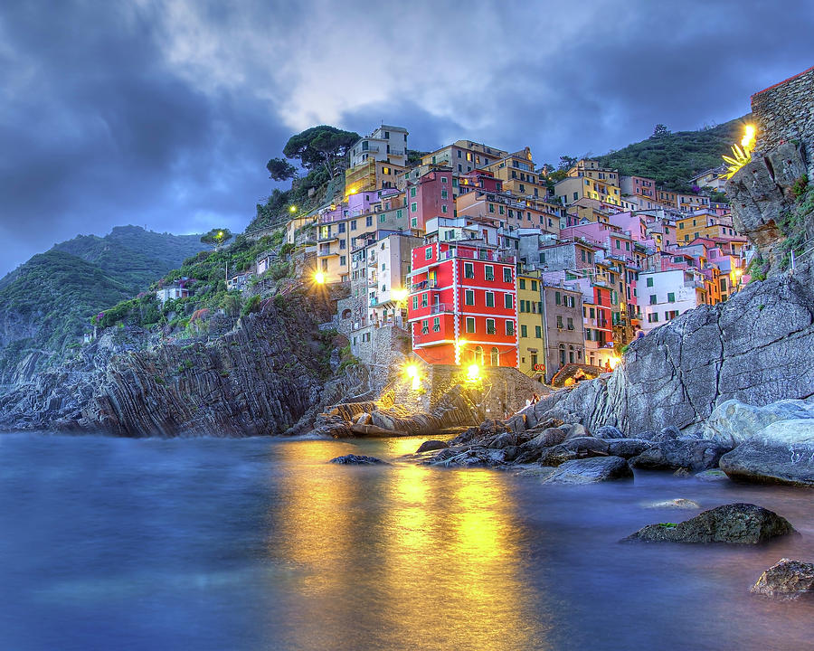 Evening in Riomaggiore by Peter Kennett