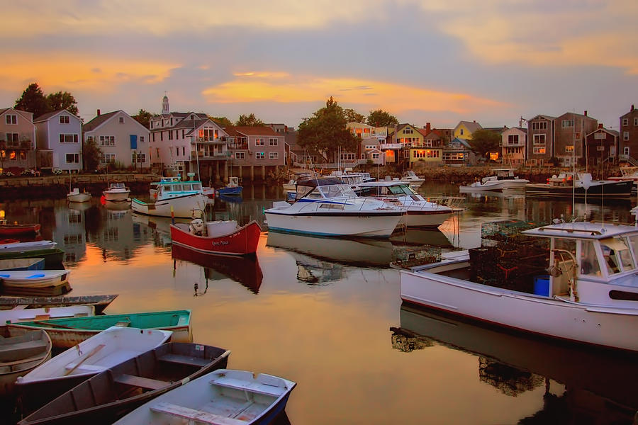 Rockport Photograph - Evening In Rockport by Joann Vitali