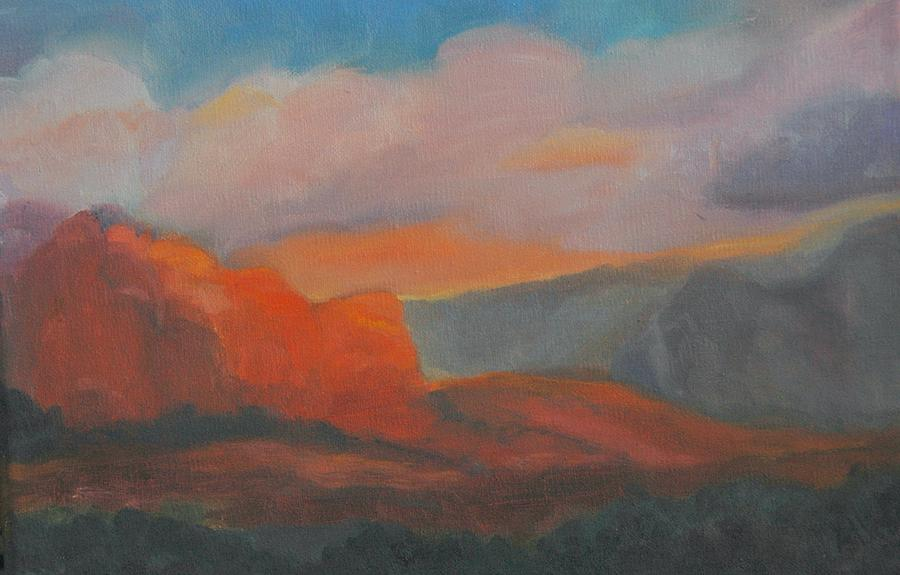 Landscape Painting - Evening In Sedona by Stephanie Allison