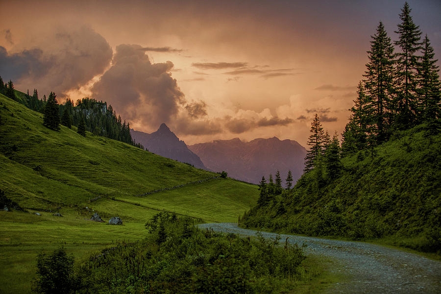 Evening Photograph - Evening In The Alps by Nailia Schwarz