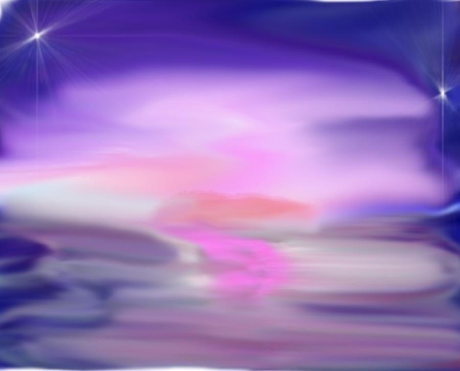 Sea Digital Art - Evening kiss by Dr Loifer Vladimir