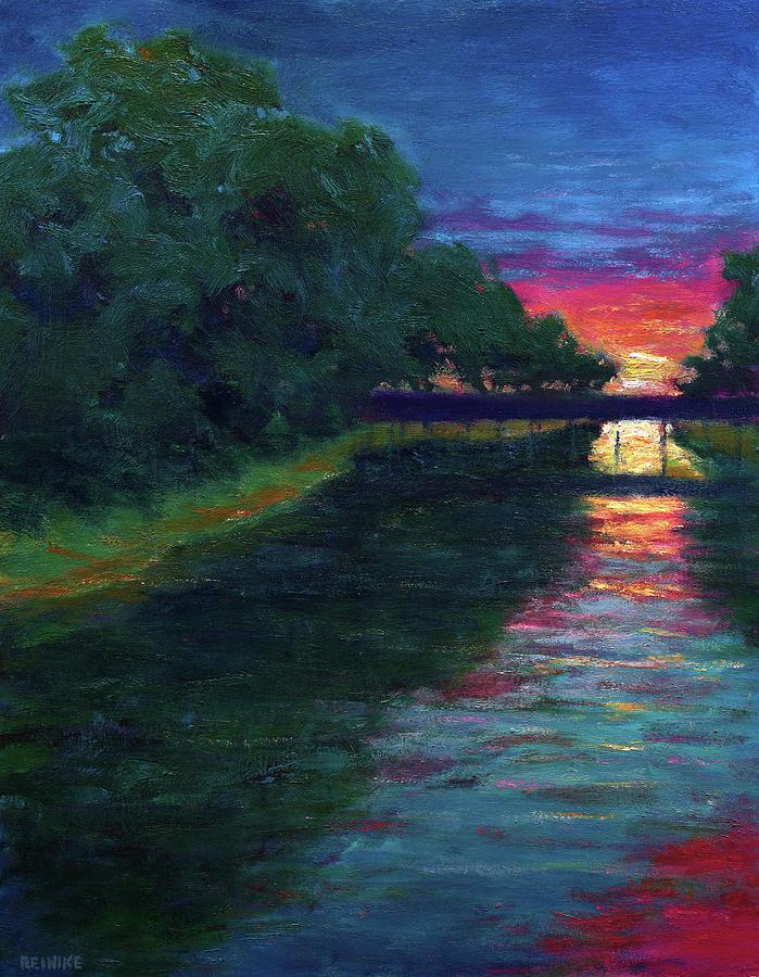 Evening, Lagan Lake Reflections by Vernon Reinike