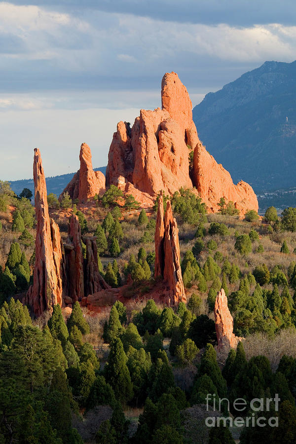 Evening Light On Garden Of The Gods Photograph