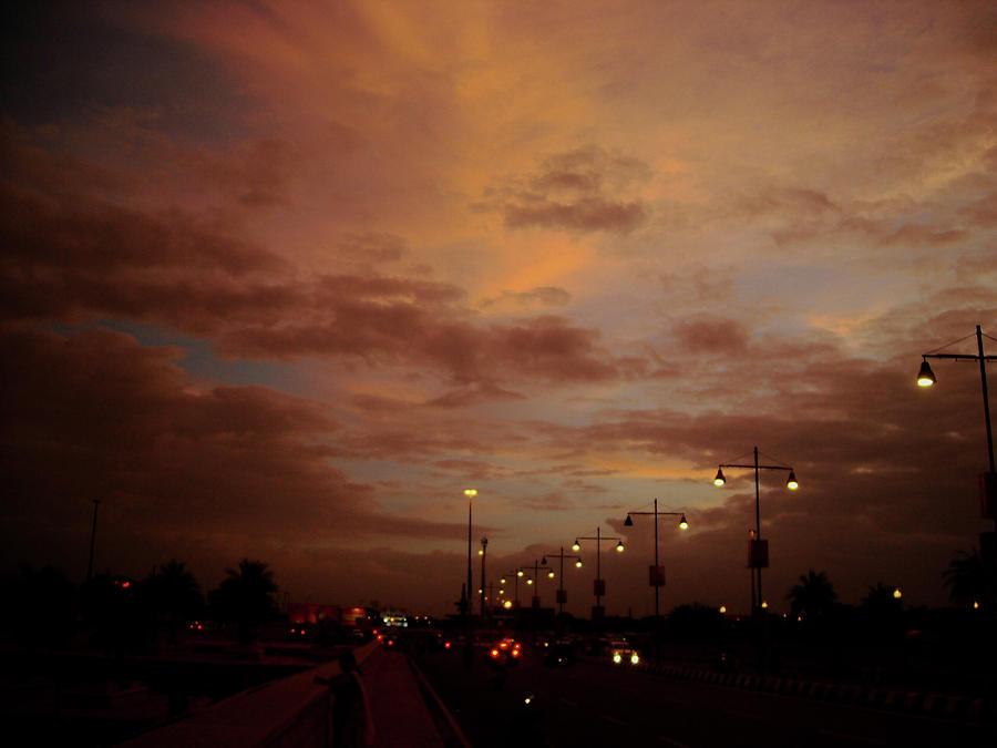 City Photograph - Evening Lights On Road by Atullya N Srivastava