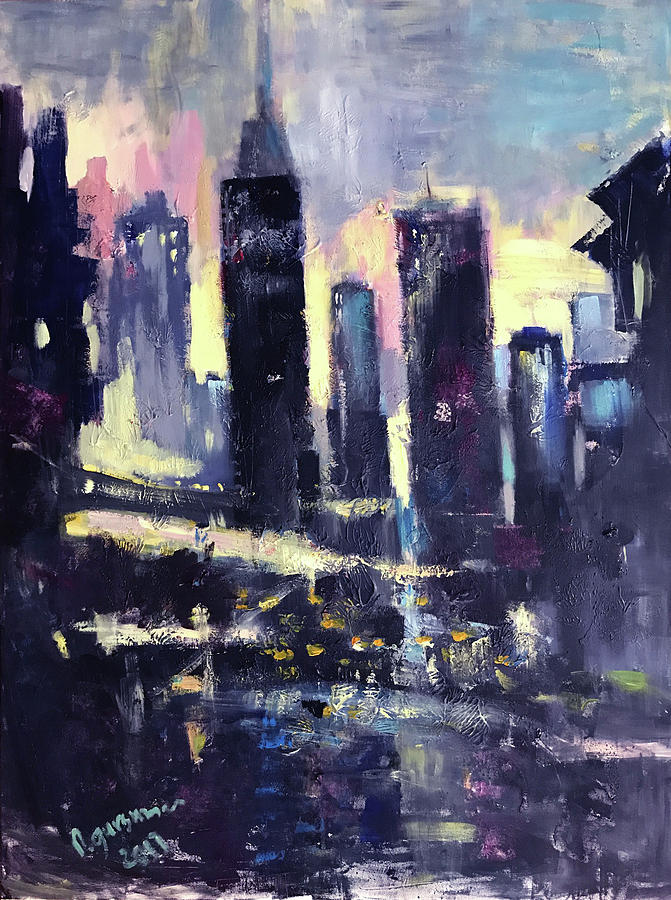 All Painting - Evening by NatikArt Creations