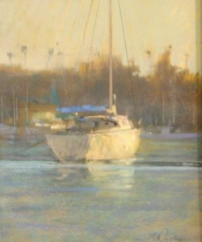 Evening Off Balboa Painting by Gil Dellinger