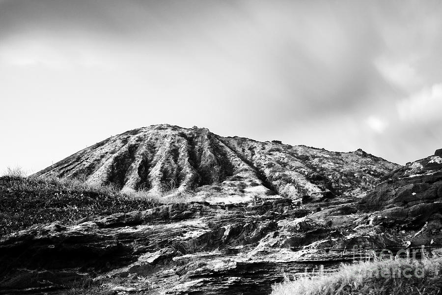 Bw Photograph - Evening On Koko Crater by Charmian Vistaunet