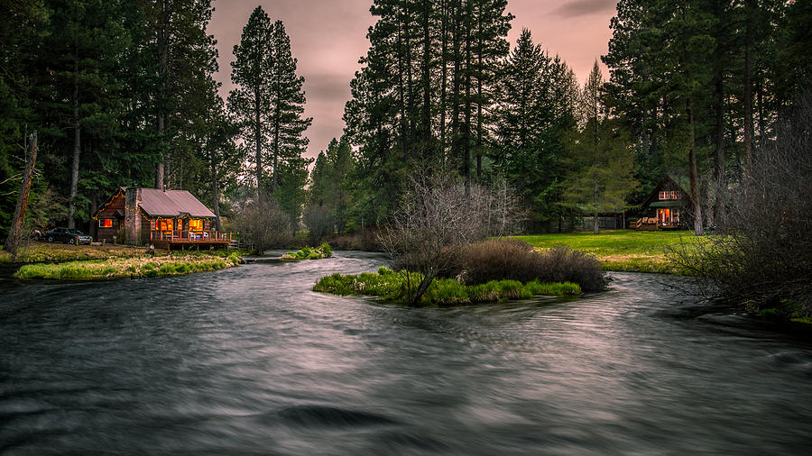 Sunset Photograph - Evening On The Metolius by Joe Hudspeth