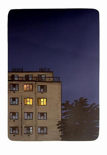 Evening Drawing - Evening by Petr Malina