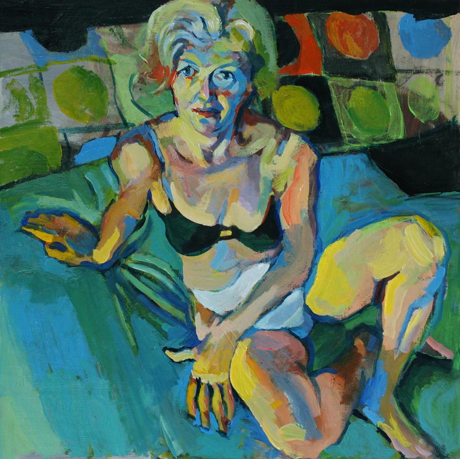Conversation Painting - Evening Pose 2 by Piotr Antonow