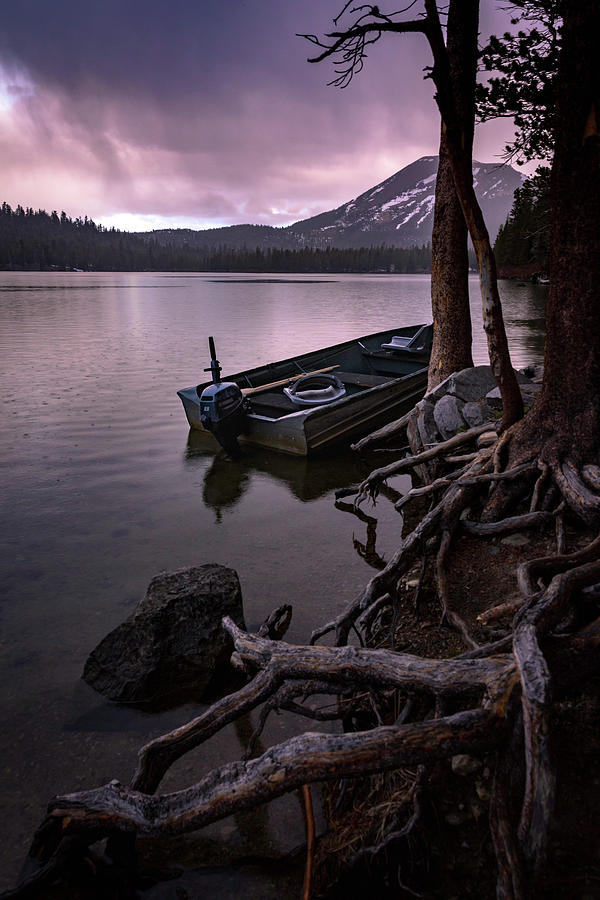 Lake Photograph - Evening Rain At Lake Mary by Cat Connor
