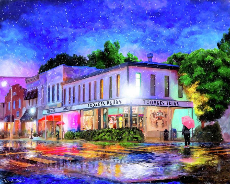 Auburn Mixed Media - Evening Rain In Auburn by Mark Tisdale
