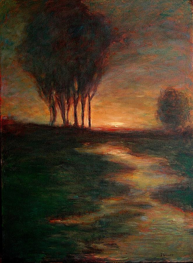 Landscape Painting - Evening Reflections by Jammie Williams