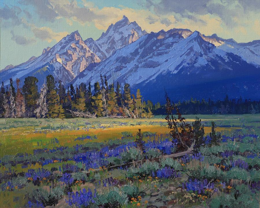 Landscape Painting - Evening Repose by Lanny Grant