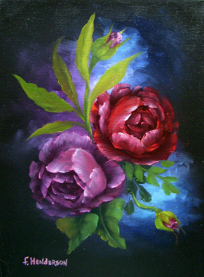 Roses Painting - Evening Roses by Francine Henderson