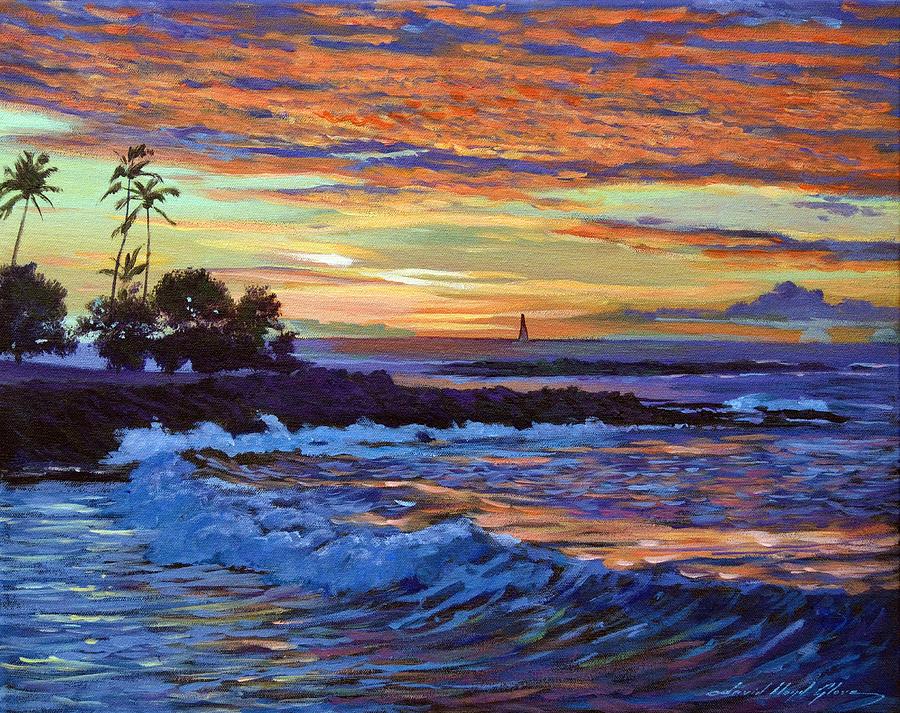Plein Aire Painting - Evening Sail Hawaii by David Lloyd Glover