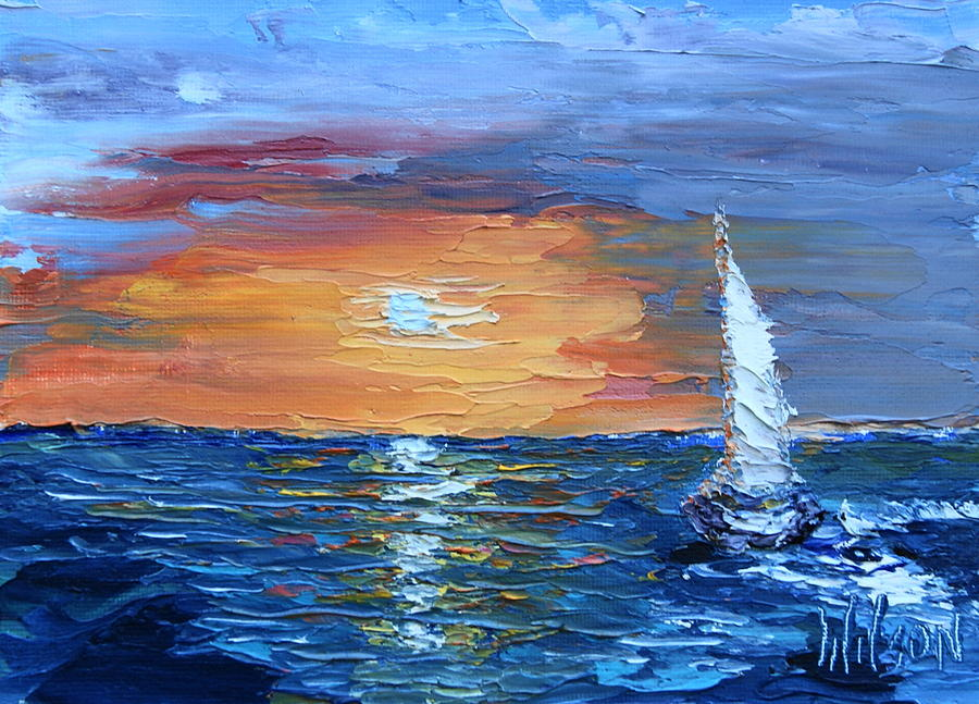 Evening Sail by Chrys Wilson
