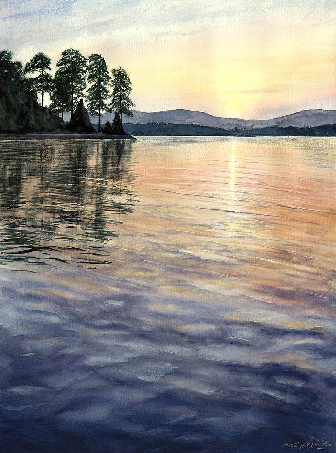 Water Painting - Evening Shades by Lane Owen