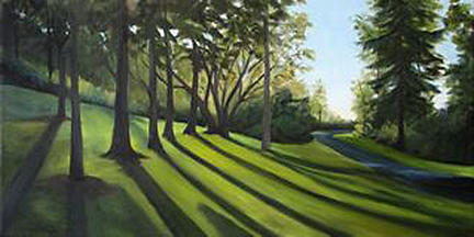 Landscape Painting - Evening Shadows by Patty L Porter