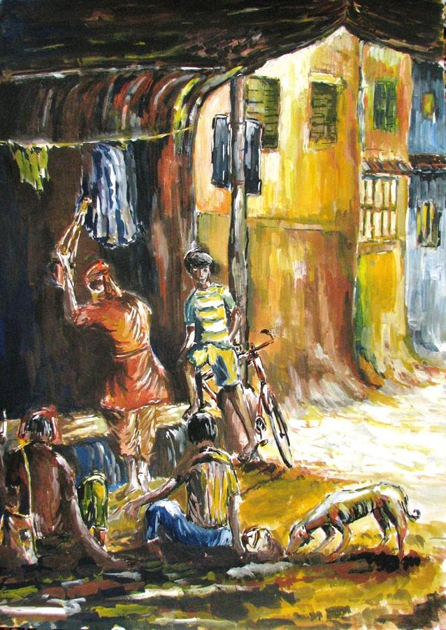 India Painting - Evening Show by Sagnik Datta