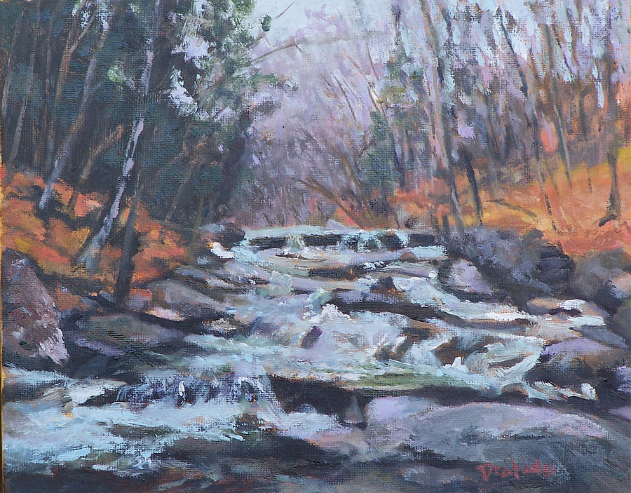 Vt Painting - Evening Spillway by Alicia Drakiotes