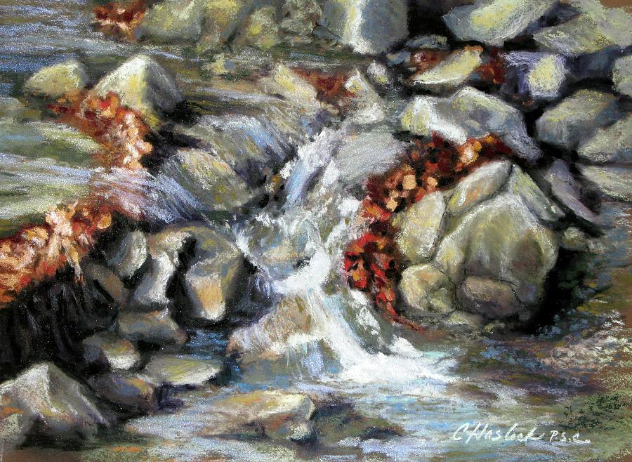 Rocks Pastel - Evening Stream by Carole Haslock