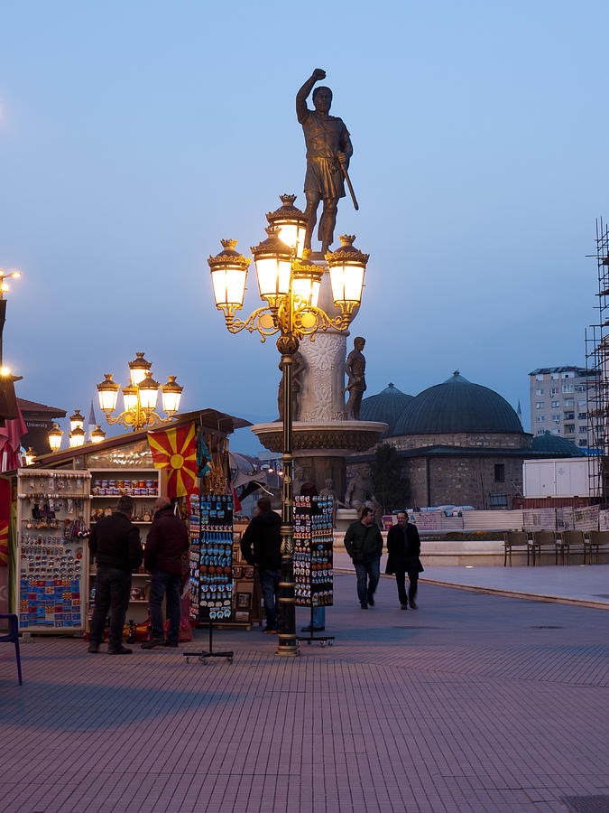 Skopje Photograph - Evening Stroll In Skopje by Rae Tucker
