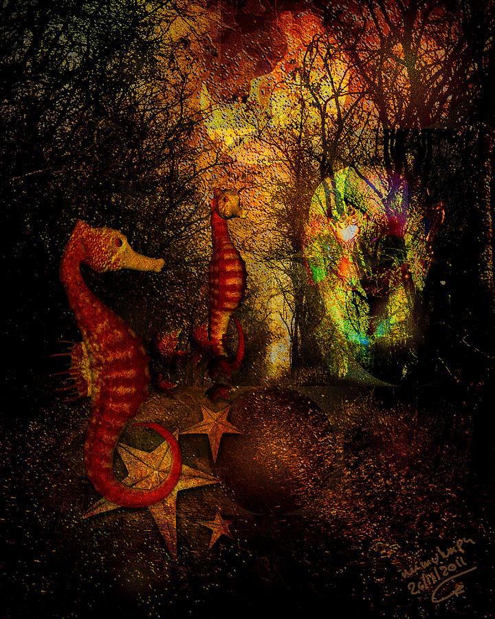Evening Digital Art - Evening Stroll by Mimulux patricia no No