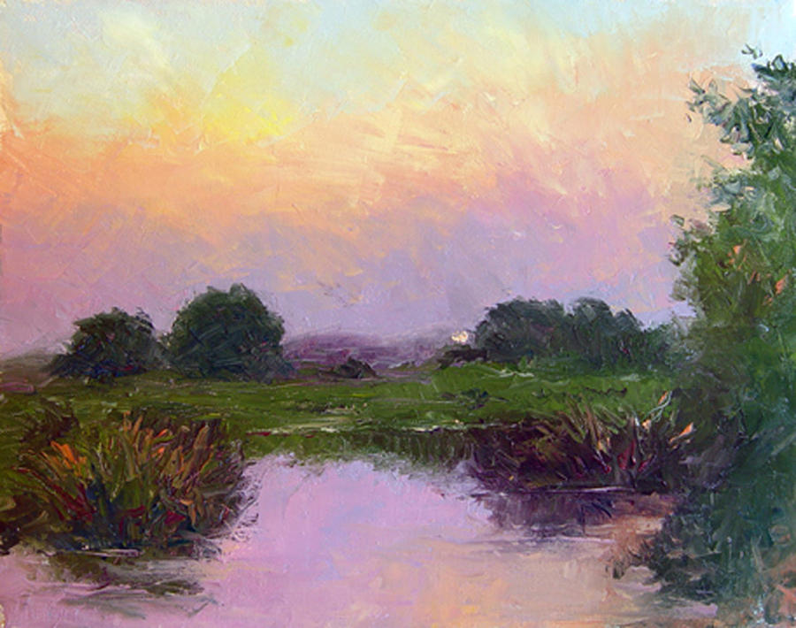 Florida Painting - Evening Sun by Diane Martens