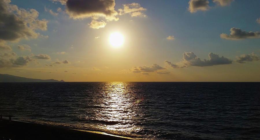 Evening Sunset On Sea Photograph