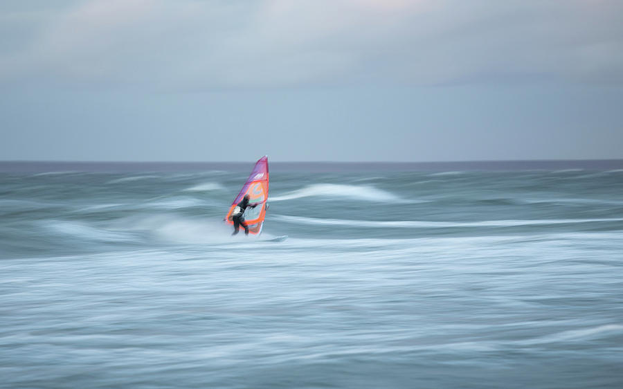 Surfer Photograph - Evening Surf by Holger Nimtz